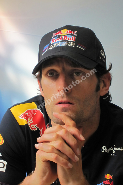 Mark Webber (Red Bull-Renault) after qualifying for the 2011 Italian Grand Prix in Monza. Photo: Grand Prix Photo