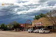 Small town of Broadus, Montana, USA
