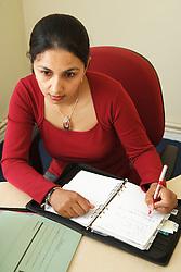 Social worker in office.