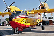 Cl-425 Supercooper.Media day for LA county's firefighting aircraft at Van Nuys Airport. .2 Cl-425 Supercoopers on lease from Quebec. 1 Sikorsky S-70 Firehawk, and 1 Erickson Air-Crane helitanker were on display. .Fire season is expected to begin soon in LA with the arrival of the Santa Ana winds later this week.