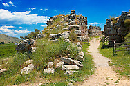 """""""Gigantic"""" stone wall & gate to Tiryns (  or ) Mycenaean city archaeological site,  Peloponnesos, Greece. A UNESCO World Heritage Site .<br /> <br /> If you prefer to buy from our ALAMY PHOTO LIBRARY  Collection visit : https://www.alamy.com/portfolio/paul-williams-funkystock/tiryns-mycenaean-site.html to refine search type subject etc into the LOWER SEARCH WITHIN GALLERY <br /> <br /> Visit our ANCIENT GREEKS PHOTO COLLECTIONS for more photos to download or buy as wall art prints https://funkystock.photoshelter.com/gallery-collection/Ancient-Greeks-Art-Artefacts-Antiquities-Historic-Sites/C00004CnMmq_Xllw"""