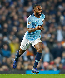 Manchester City's Raheem Sterling during the Premier League match at the Etihad Stadium, Manchester.