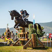 Frankie Thieriot Stutes (USA) and Chatwin at the The Event at Rebecca Farm in Kalispell, Montana.