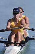 St Catherines, CANADA,  Women's Pair, Bronze medalist,  AUS W2-. Kate SLATTER  and Rachael TAYLOR,  competing at the 1999 World Rowing Championships - Martindale Pond, Ontario. 08.1999..[Mandatory Credit; Peter Spurrier/Intersport-images]       ...St Catherines, CANADA,  Women's Pair, Bronze medalist,  AUS W2-. Kate SLATTER  and Rachael TAYLOR,  competing at the 1999 World Rowing Championships - Martindale Pond, Ontario. 08.1999..[Mandatory Credit; Peter Spurrier/Intersport-images]       ... 1999 FISA. World Rowing Championships, St Catherines, CANADA