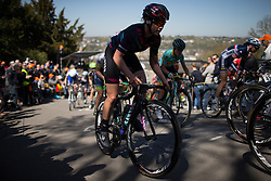 Tiffany Cromwell (AUS) of CANYON//SRAM Racing rides up the Mur de Huy in the first lap of the Flèche Wallonne Femmes - a 137km road race from starting and finishing in Huy on April 20, 2016 in Liege, Belgium.
