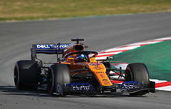 McLaren's Carlos Sainz during day one of pre-season testing at the Circuit de Barcelona-Catalunya.