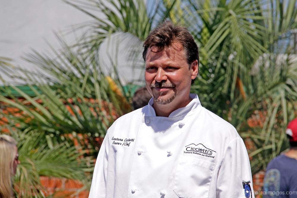 Cardiff by the Sea 100th Birthday Parade: Chef of Cicciotti's Trattoria