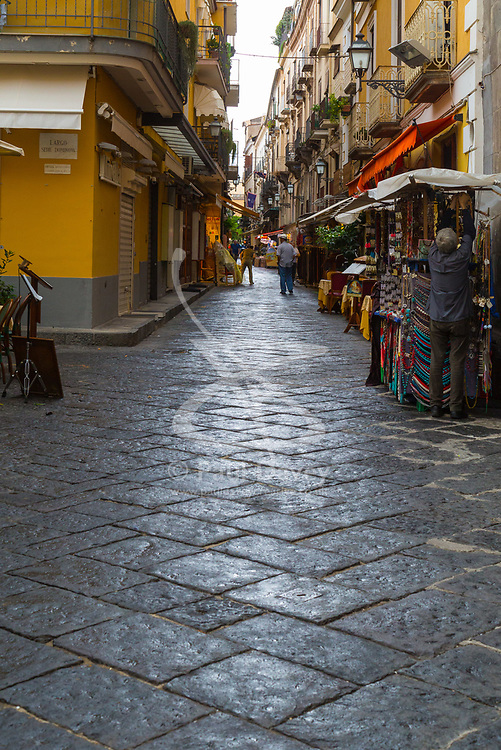 Sorrento, Italy, September 17 2017. Shops prepare to open in Sorrento, Italy. © Paul Davey