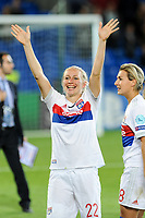 Pauline Bremer of Olympique Lyon celebrates the victory during the UEFA Women's Champions League Final between Lyon Women and Paris Saint Germain Women at the Cardiff City Stadium, Cardiff, Wales on 1 June 2017. Photo by Giuseppe Maffia.<br /> <br /> Giuseppe Maffia/UK Sports Pics Ltd/Alterphotos