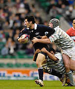 Twickenham. GREAT BRITAIN,  Oxford full back Chris MAHONY, attacking, during the 2006 Varsity Rugby Match at Twickenham Stadium, England 12.12.2006. [Photo, Peter Spurrier/Intersport-images] Sponsor, Lehman Brothers,