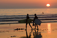 Surfers at Sunset, Morro Bay, CA