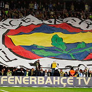 Fenerbahce's Supporters fans during their Turkish superleague soccer derby match Fenerbahce between Galatasaray at Sukru Saracaoglu stadium in Istanbul Turkey on Saturday 17 March 2012. Photo by TURKPIX
