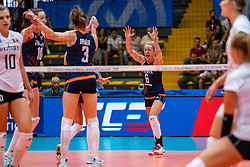 02-08-2019 ITA: FIVB Tokyo Volleyball Qualification 2019 / Belgium - Netherlands, Catania<br /> 1e match pool F in hall Pala Catania between Belgium - Netherlands. Netherlands win 3-0 / Maret Balkestein-Grothues #6 of Netherlands