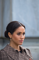 The Duchess of Sussex during a visit to the newly unveiled UK war memorial and Pukeahu National War Memorial Park, in Wellington, on day one of the royal couple's tour of New Zealand.