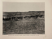 """DRILLING OF THE ARTILLERY OF GENERAL HOOKERS DIVISION, AT MALVERN HILL, VA., 1862 from The American Civil War book and Grant album : """"art immortelles"""" : a portfolio of half-tone reproductions from rare and costly photographs designed to perpetuate the memory of General Ulysses S. Grant, depicting scenes and incidents in connection with the Civil War Published  in Boston and New York by W. H. Allen in 1894"""