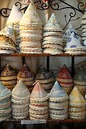 Alberobello hand made linen covers in La Botega die Finchietti shop.  Alberobello, Puglia, Italy.  Pictures, photos, images & fotos.