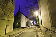 View down Brewer Street towards St Ebbes at night