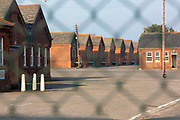 Napier Barracks, recently taken over by the UK home office to be turned into an assessment and dispersal facility for asylum seekers on 21st September 2020 in Folkestone, Kent, Untied Kingdom.  Napier barracks was part of Shorncliffe military base, the MOD have sold off large parts of land in recent years for housing development.