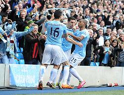 Manchester City's Jesus Navas celebrates his goal. - Photo mandatory by-line: Dougie Allward/JMP - Tel: Mobile: 07966 386802 24/11/2013 - SPORT - Football - Manchester - Etihad Stadium - Manchester City v Tottenham Hotspur - Barclays Premier League