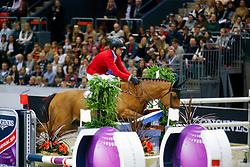 Lutz Peter, (USA), Robin de Ponthual<br /> Longines FEI World Cup Jumping Final II<br /> © Dirk Caremans