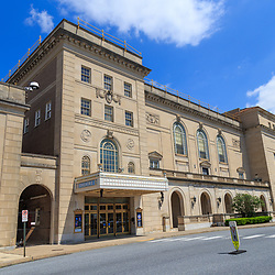 Hershey, PA / USA - May 21, 2018: The Hershey Theatre is a 1,904-seat theater in downtown and was opened in September, 1933.