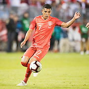 EAST HARTFORD, CONNECTICUT- October 16th:   Luis Advincula #7 of Peru in action during the United States Vs Peru International Friendly soccer match at Pratt & Whitney Stadium, Rentschler Field on October 16th 2018 in East Hartford, Connecticut. (Photo by Tim Clayton/Corbis via Getty Images)