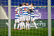 GOAL 1-0 Queens Park Rangers (QPR) attacker Ilias Chair (10) during the EFL Sky Bet Championship match between Queens Park Rangers and Rotherham United at the Kiyan Prince Foundation Stadium, London, England on 24 November 2020.