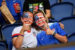 June 28, 2019 - Paris, ile de france, France - American fans before the quarter-final between FRANCE vs USA in the 2019 women's football World cup at Parc des Princes in Paris, on the 28 June 2019. (Credit Image: © Julien Mattia/NurPhoto via ZUMA Press)