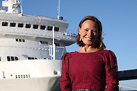 Voyages of Discovery's newly refurbished ship mv Voyager is named in Portsmouth..History and wildlife presenter Miranda Krestovnikoff today named new ship mv Voyager at a ceremony held in Portsmouth.