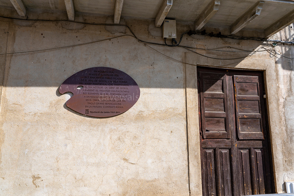 Picasso House, Gosol, Catalonia - house where Pablo Picasso lived, and inspired his invention of cubism.