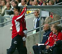 Fotball, 11 mai 2003, EM--kvalifisering, Norge-Romania, Nils JOhan Semb, Norge slår taket av sinne