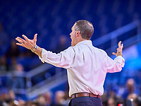 Middle Tennessee Blue Raiders head coach Nick McDevitt during the UAB Blazers at Middle Tennessee Blue Raiders college basketball game in Murfreesboro, Tennessee, Saturday, February, 15, 2020. Middle lost 79-66.<br /> Photo: Harrison McClary/All Tenn Sports