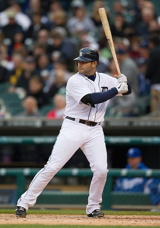 May 01, 2012:  Detroit Tigers catcher Alex Avila (13) at bat during MLB game action between the Kansas City Royals and the Detroit Tigers at Comerica Park in Detroit, Michigan.  The Tigers defeated the Royals 9-3.