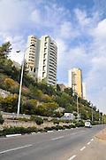 Israel, Givat Nesher, Haifa, Modern high rise apartment buildings