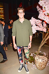 Isaac Carew at the Warner Music Group and British GQ Summer Party in partnership with Quintessentially held at Nobu Shoreditch Willow Street, London England. 5 July 2017.
