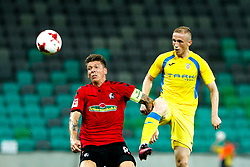 August 3, 2017 - Ljubljana, Slovenia, Slovenia - Mike Frantz of SC Freiburg and Zeni Husmani of NK Domzale battle for the ball during the UEFA Europa League Third Qualifying Round match between SC Freibur and NK Domzale at Arena Stozice on 3 rd August , 2017 in Ljubljana, Slovenia. (Credit Image: © Damjan Zibert/NurPhoto via ZUMA Press)