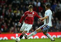 Ole Gunnar Solskjaer Scores Winning Goal<br />Manchester United 2006/07<br />Manchester United V Aston Villa (2-1) 07/01/07<br />The FA Cup 3rd Round <br />Photo Robin Parker Fotosports International
