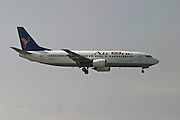Italy, Milan, Linate Airport, Air One Boeing 737-400 passenger jet