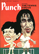 Punch cover 27 June - 3 July 1973 (The tennis circus with Ilie Nastase and Billy Jean King)