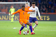 Netherlands Midfielder Georginio Wijnaldum (Liverpool) battles with England midfielder Dele Alli during the Friendly match between Netherlands and England at the Amsterdam Arena, Amsterdam, Netherlands on 23 March 2018. Picture by Phil Duncan.