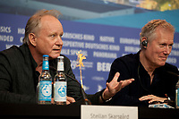 Actor Stellan Skarsgård and Director, Screenwriter Hans Petter Moland, at the press conference for the film Out Stealing Horses (Ut Og Stjæle Hester) at the 69th Berlinale International Film Festival, on Saturday 9th February 2019, Hotel Grand Hyatt, Berlin, Germany.