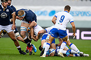 Jonny Gray (Scotland), ruck Italy during the Autumn Nations Cup, rugby union Test match between Italy and Scotland on November 14, 2020 at the Artemio Franchi stadium in Florence, Italy - Photo Ettore Griffoni / LM / ProSportsImages / DPPI