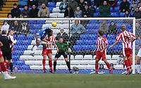 Photo: Mark Stephenson.<br /> Birmingham City v Stoke City. Coca Cola Champinship. 11/02/2007.Birmingham's Cameron Jerome scores but is off side
