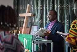 30 October 2019, Monrovia, Liberia: Bishop Dr Jensen Seyenkulo leads morning prayer at the Lutheran Compound in Monrovia.