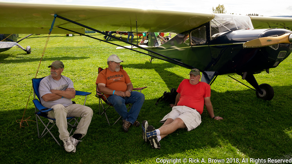 Enjoying the shade of your Taylorcraft at the Hood River FlyIn.