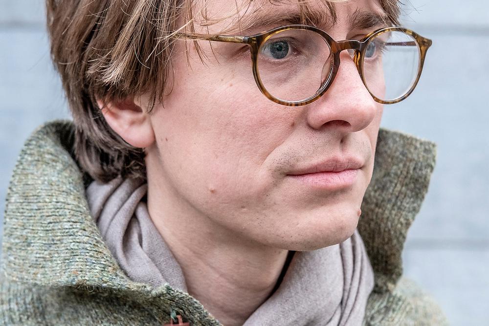 Nederland. Amsterdam, 22-11-2018. Foto: Patrick Post. Portret van Casper Thomas.
