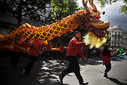 Festival of Cultures participants are seen parading through Berlin's streets, on May 15, 2016.