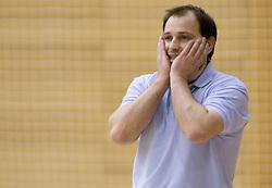 Coach of Kranjska Gora Goran Jovanovic at finals match of Slovenian 1st Women league between KK Hit Kranjska Gora and ZKK Merkur Celje, on May 14, 2009, in Arena Vitranc, Kranjska Gora, Slovenia. Merkur Celje won the third time and became Slovenian National Champion. (Photo by Vid Ponikvar / Sportida)