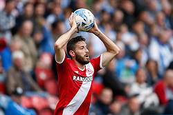 Damia of Middlesbrough takes a throw-in - Photo mandatory by-line: Rogan Thomson/JMP - 07966 386802 - 13/09/2014 - SPORT - FOOTBALL - Huddersfield, England - The John Smith's Stadium - Huddersfield town v Middlesbrough - Sky Bet Championship.