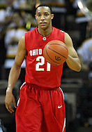 January 27, 2010: Ohio State guard/forward Evan Turner (21) brings the ball down court during the first half of their game at Carver-Hawkeye Arena in Iowa City, Iowa on January 27, 2010. Ohio State defeated Iowa 65-57.